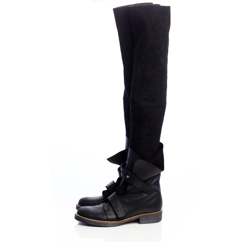 Stretch and Folds over knee Boots