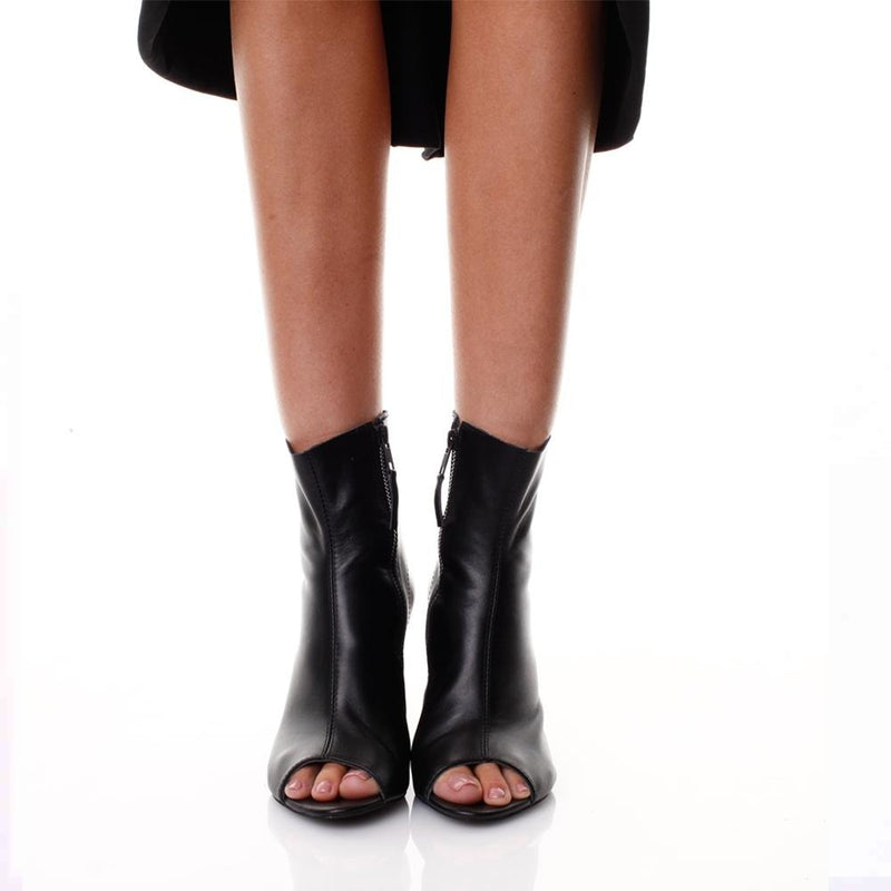 Queen of Hearts Black Booties