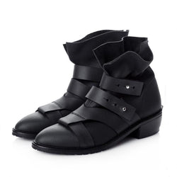 Strappy Beauties Pointed Booties