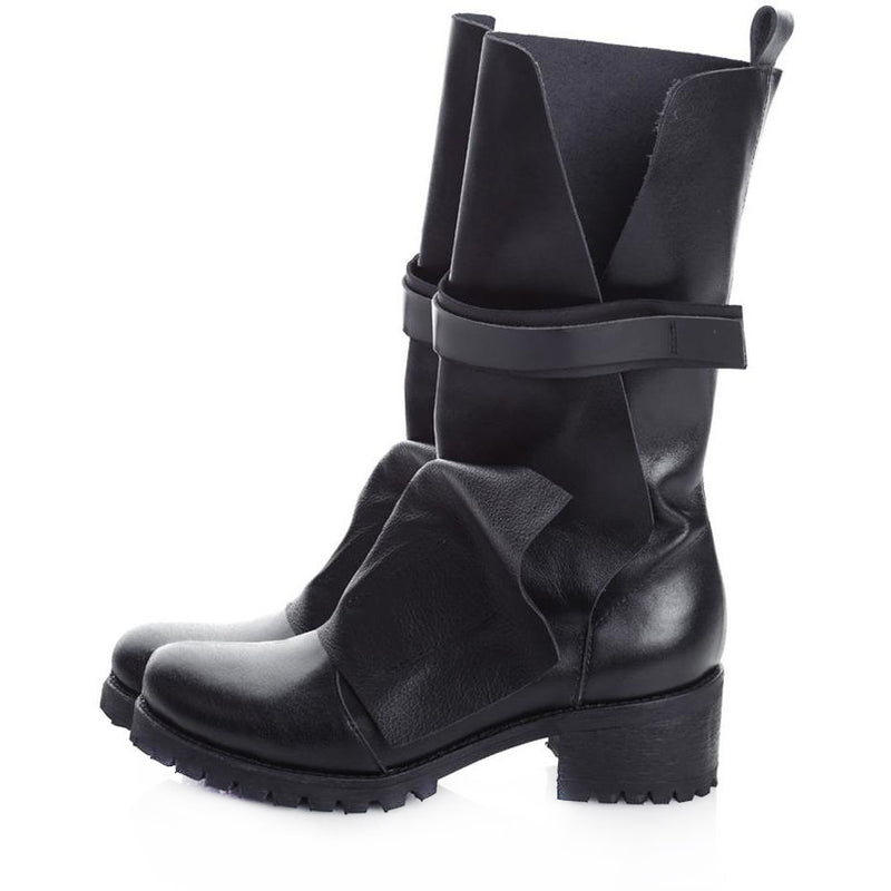 Flap and Straps Boots
