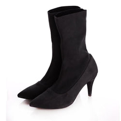 Simplicity  Black Stretch Booties