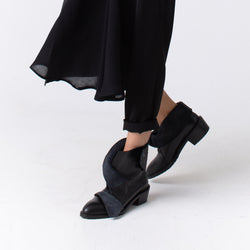 Wing Hug Black Pointed Booties