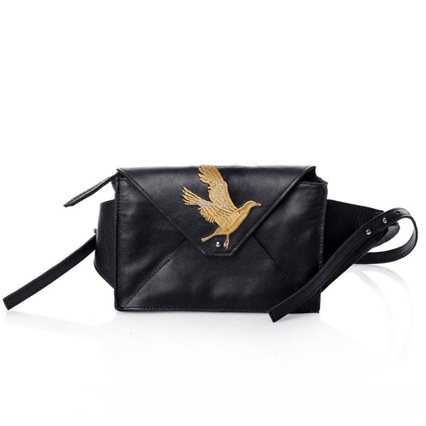 Seagulls Black Bum Bag