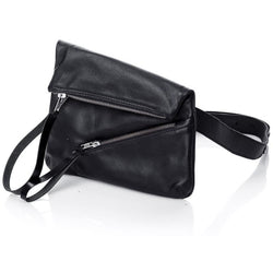 Double Zipper Black Bum Bag