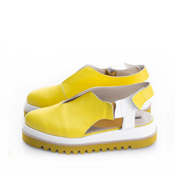 V-Cut Lemon Delight Shoes