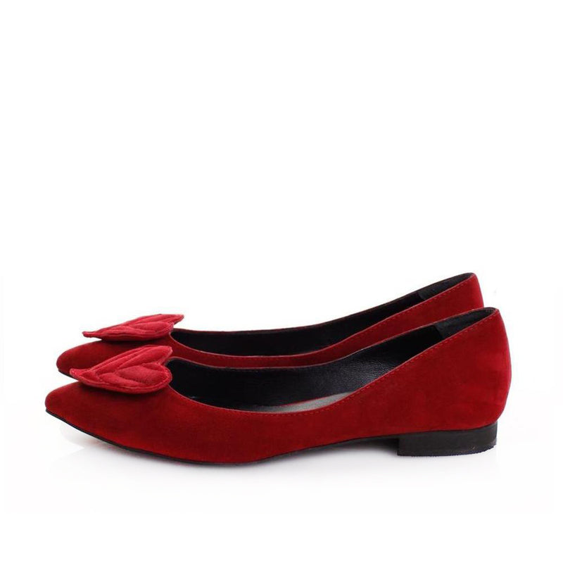 Queen of Hearts Pointed Flats