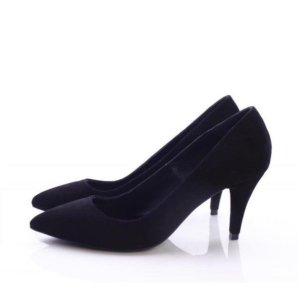 Simplicity Black Suede Pumps
