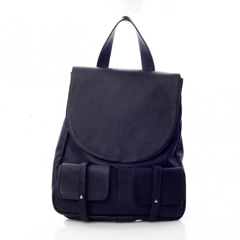 Front Pockets Black Backpack