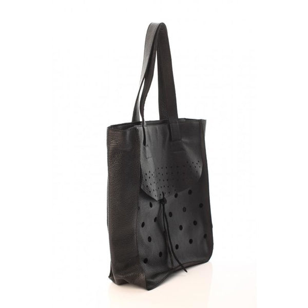 Dots and Holes Black Tote Bag