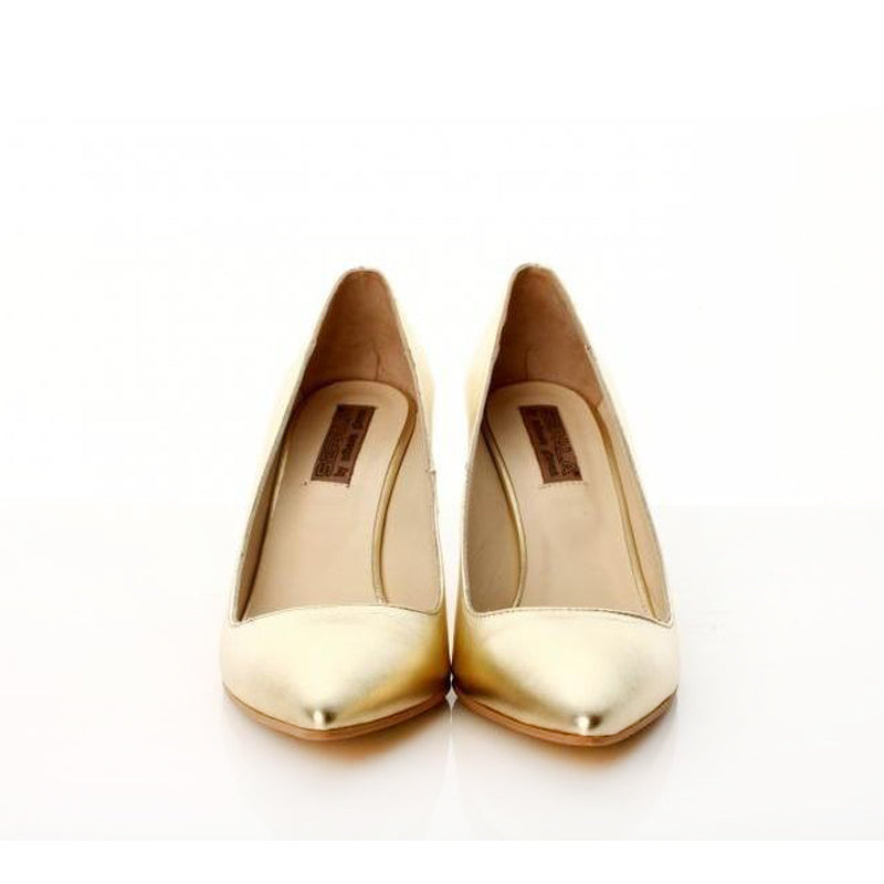 Simplicity Golden Leather Pumps