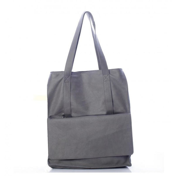 Pocket Grey Tote Bag