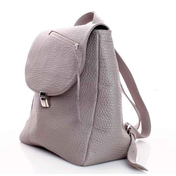Zipper Line Nude Backpack