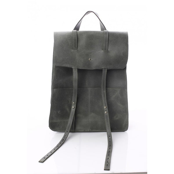 Folded Flap Khaki Backpack