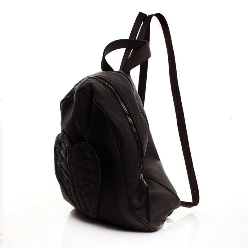 Flying Heart Black Backpack