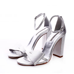 Take a Bow Silver Sandals