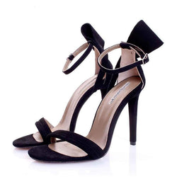 Back to Bow Black Suede Sandals