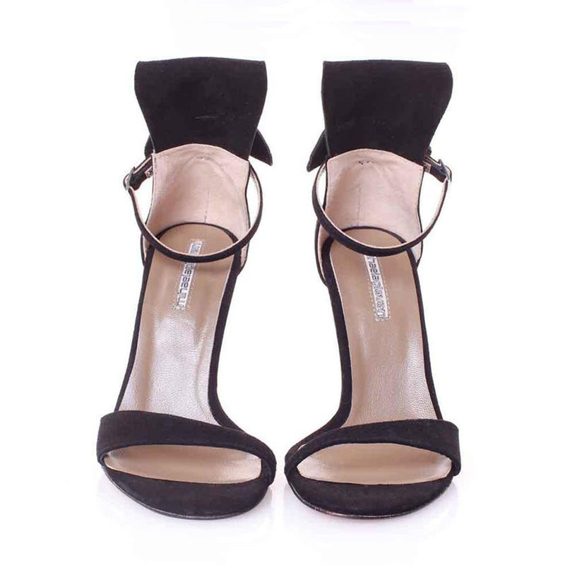 Back Bow Black Sandals
