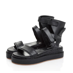 Ankle Hug Black Sandals