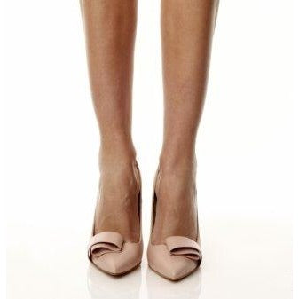 Twisted Bow Nude Pumps