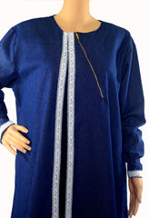 White Lace Trim Bisht