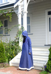Tasseled Denim Abaya - Wudu Friendly