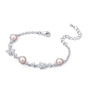 Freshwater Pearl Bracelet (Pink Pearl) - Woment Designer Jewelry