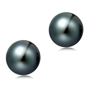 12-12.5mm Freshwater Pearl Earrings (Button Shape) - Woment Designer Jewelry