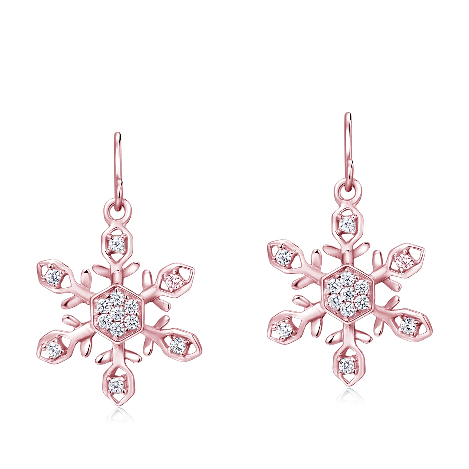 Rose Gold Plated Silver Earrings - Woment Designer Jewelry