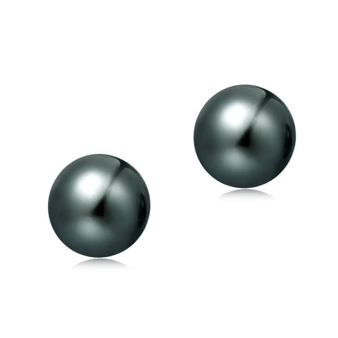 6.5-7mm Freshwater Pearl Earrings (Button Shape) - Woment Designer Jewelry