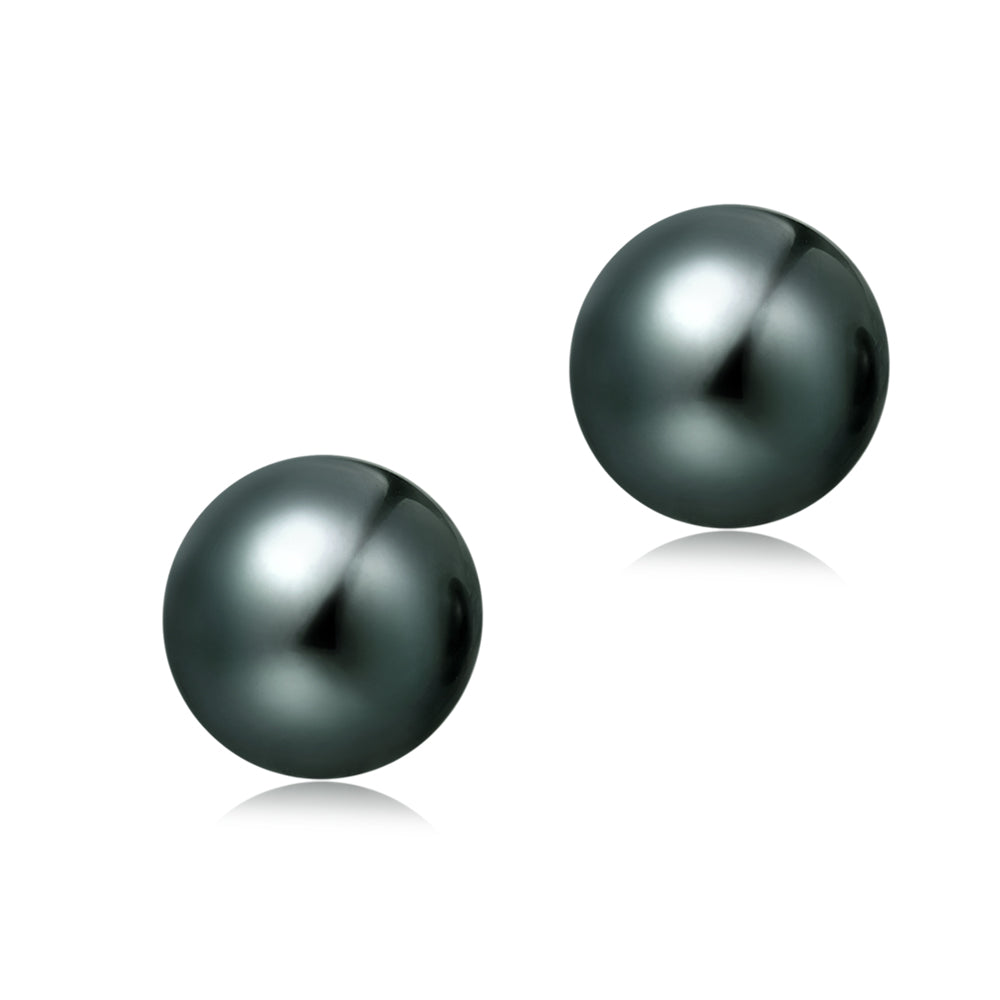8.5-9mm Freshwater Pearl Earrings (Button Shape) - Woment Designer Jewelry