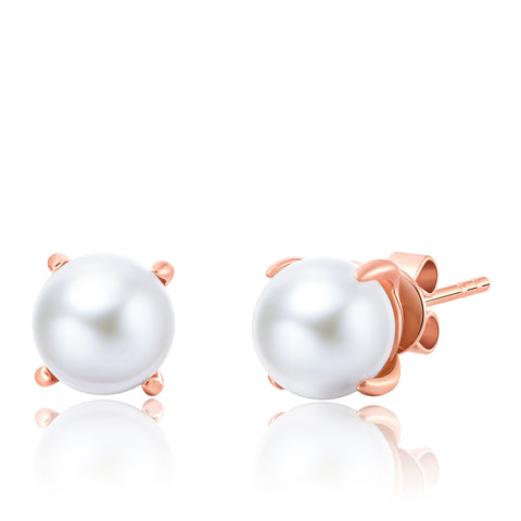 18K Rose Gold Akoya Pearl Earrings - Woment Designer Jewelry