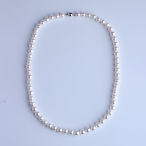 Japan Akoya Pearl Necklace 6.5-7mm - Woment Designer Jewelry
