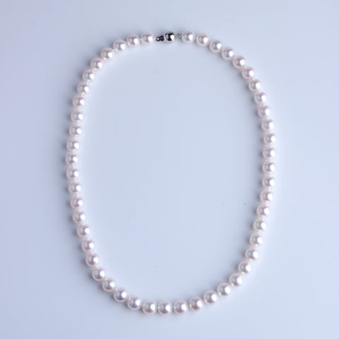 Japan Akoya Pearl Necklace 8-8.5mm - Woment Designer Jewelry