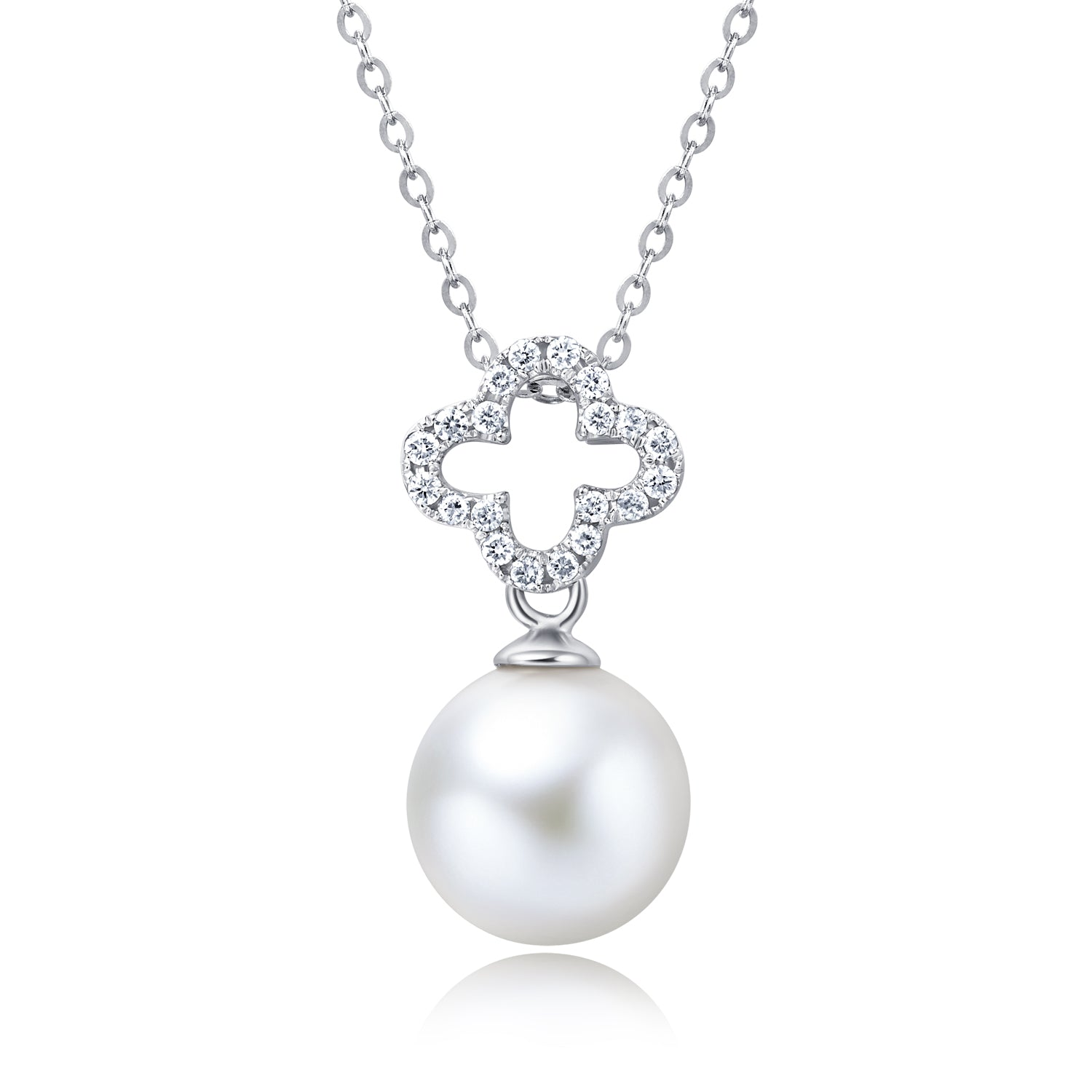18KW Gold Akoya Pearl Pendant - Woment Designer Jewelry