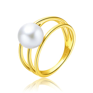 18KR Gold Akoya Pearl Ring - Woment Designer Jewelry