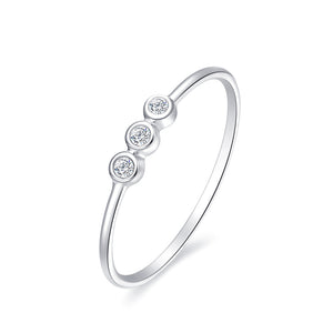 18K WHITE GOLD RING WITH DIAMOND - Woment Designer Jewelry