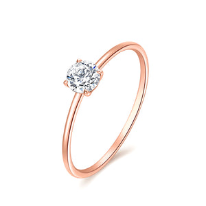 18K ROSE GOLD RING WITH DIAMOND - Woment Designer Jewelry