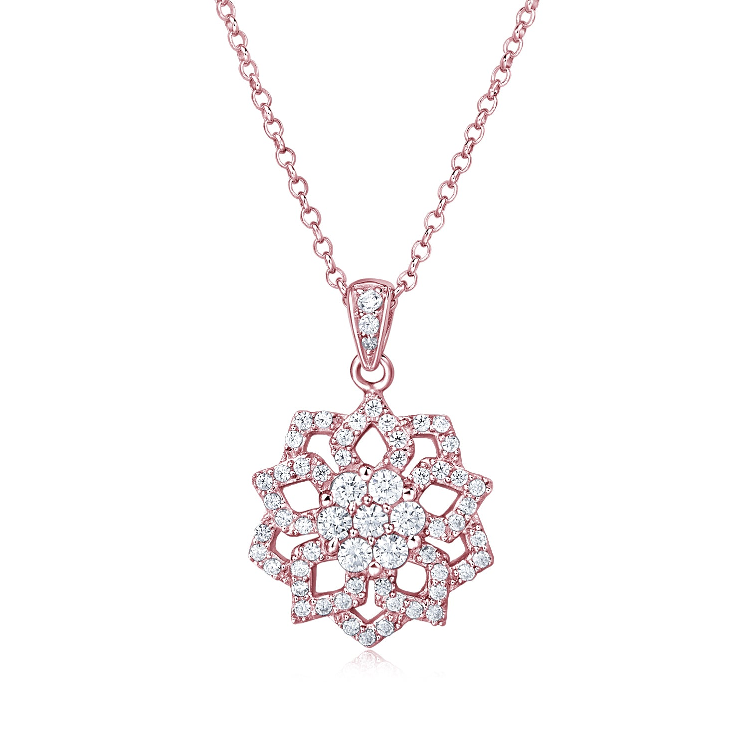Rose Gold Plated Silver Necklace - Woment Designer Jewelry
