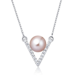 Freshwater Pearl Necklace (Pink Pearl)