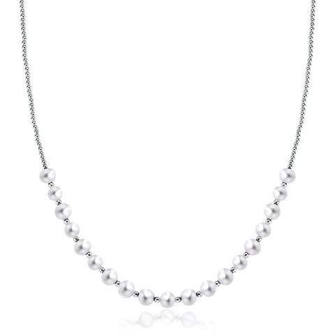 Freshwater Pearl Necklace (White Pearl) - Woment Designer Jewelry