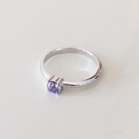 Amethyst Silver Ring - Woment Designer Jewelry
