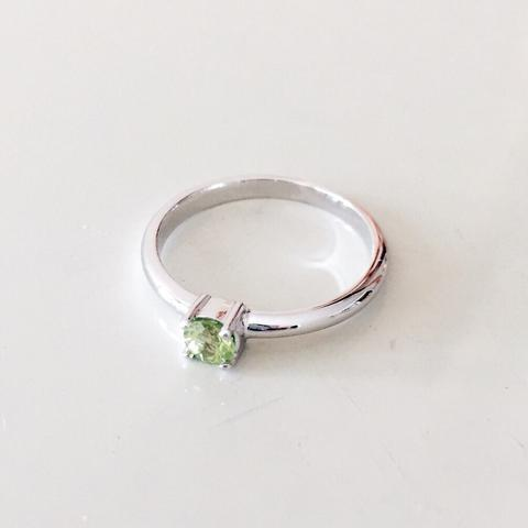 Peridot Silver Ring - Woment Designer Jewelry