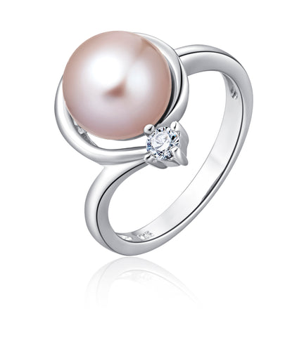 Freshwater Pearl Ring (Pink Pearl) - Woment Designer Jewelry