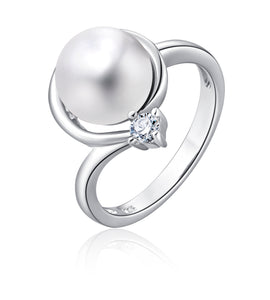 Freshwater Pearl Ring (White Pearl) - Woment Designer Jewelry