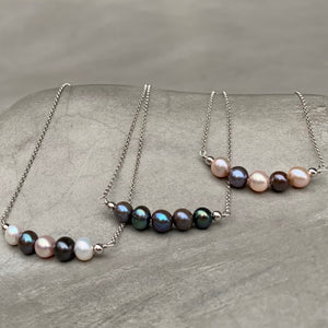 Freshwater Pearl Workshop Necklace 自訂顏色珍珠頸鏈(訂造) - Woment Designer Jewelry