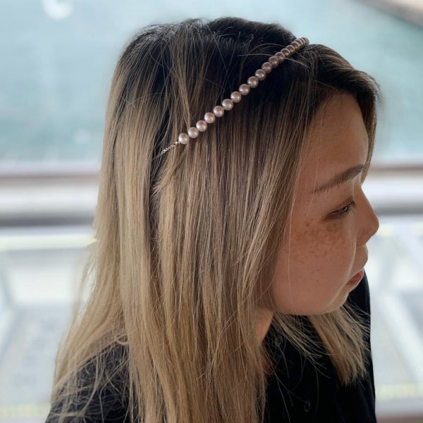 Freshwater Pearl Hair Band - Woment Designer Jewelry
