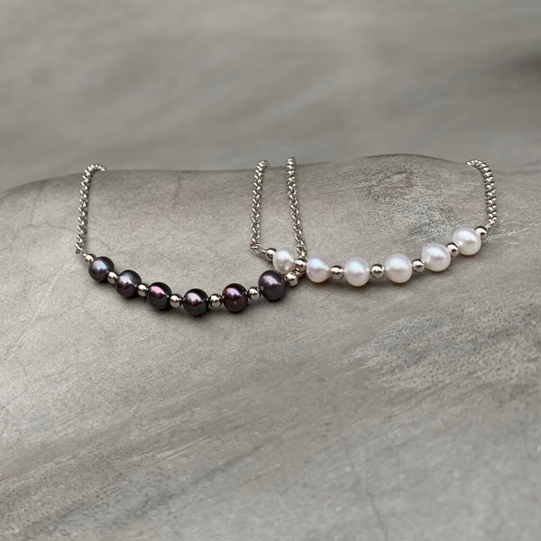 Freshwater Pearl Workshop Anklet 黑色珍珠腳鏈 (訂做) - Woment Designer Jewelry