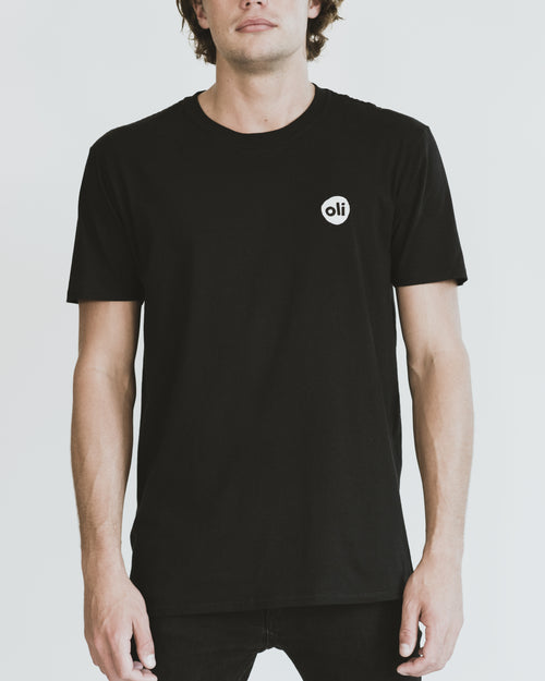 Stitched Logo Black Unisex T-Shirt