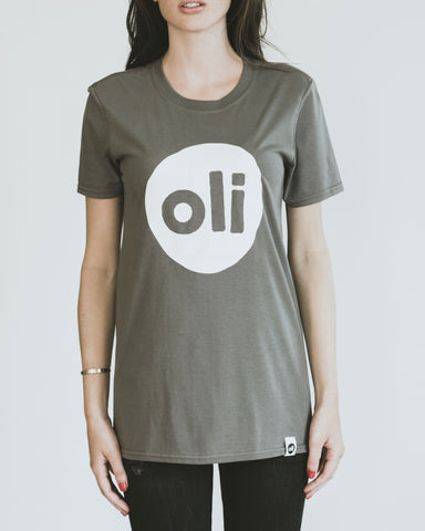 Large Print Logo Grey Unisex T-Shirt