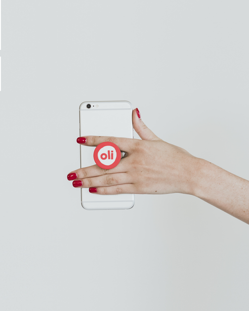 Red Logo Pop Socket